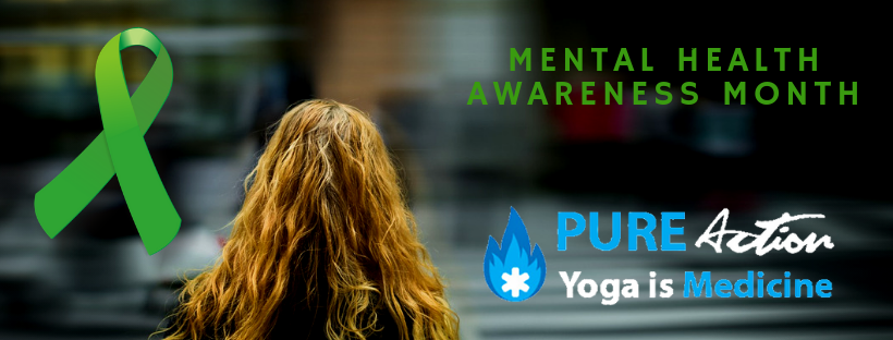 1 in 5 American Adults will be diagnosed with a mental illness this year. May is Mental Health Awareness Month. #YogaIsMedicine #WhyCare